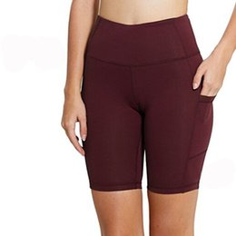 "$enCountryForm.capitalKeyWord NZ - Women's 8""   5"" High Waist Workout Yoga Running Compression Shorts Tummy Control Side Pockets"