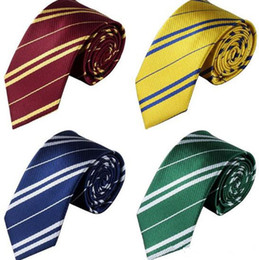 harry potter tie ravenclaw Canada - Striped Harry Potter Neck Tie for men school ties student Gryffindo Ravenclaw Hufflepuff Slytherin Necktie harry potter necktie epacket free