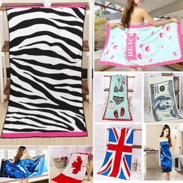 $enCountryForm.capitalKeyWord Australia - Fashion Flag Bath Towel 140*70cm Printed Stripe Leopard Swimming Swimwear Shower Drying Washcloth 12 Designs HH7-991