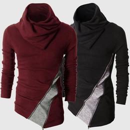 Black Blocks Australia - Mens Color Block Knit Sweaters Turtle Neck Slim Outwear Coat for Men High Collar Knitted Patchwork Long Sleeve Knitwear Sweater Black 4XL