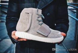 Venta al por mayor de Kanye NEN West 750 Boost Botines de moda de cuero para hombre Zapatos deportivos para mujer Zapatillas de deporte de venta caliente Zapatillas de deporte de alta calidad