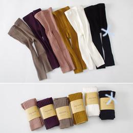 Vente en gros INS fille pantalons vêtements leggings de couleur unie pantalons fille tricot pantalons automne printemps
