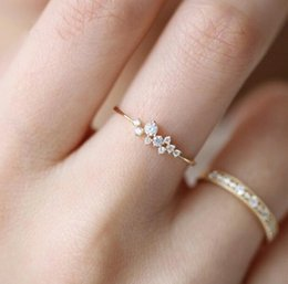 yellow white rose band ring Australia - Stylish Fashion Women Ring Finger Jewelry Rose Gold  Sliver  Gold Color Rhinestone Crystal Opal Rings 6 7 8 9 10 Size Hot Sale