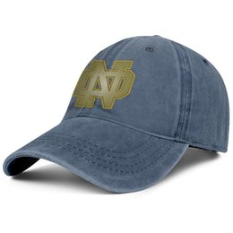 save off d6f11 5939b Notre Dame Fighting Irish football logo Golden Cowboy hat men snapback hat  funny adjustable beautiful women basketball cap youth snapback c