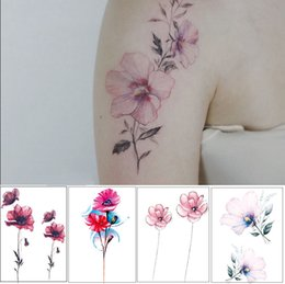 Fake eyes stickers online shopping - 100pcs Flower Temporary Tattoos for Women Hand Tattoo Sticker Fashion Body Art Waterproof Arm Fake Tattoo Paper x150mm