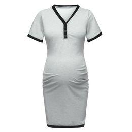722c47e4ebfc1 Nursing Dress Women Short Sleeve Elegant Casual Loose Sleep Breastfeeding  Dress For Feeding Maternity Pregnancy Clothes 19mar1