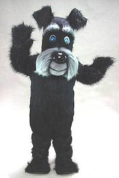 Black Beard Costume Australia - Hot sale Long beard black terrier dog mascots head costume suit short plush halloween Fancy Party mascot EMS free shipping