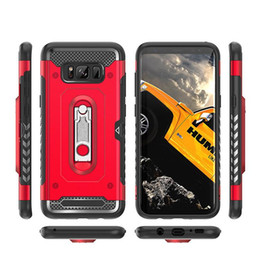 Wholesale Card Ring Australia - Metal Kickstand Cards Holder Armor Hybrid Ring Case For Samsung Galaxy Note 8 9 A6 A7 A8 Plus A9 2018 A750 M10 M20