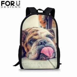 $enCountryForm.capitalKeyWord Australia - FORUDESIGNS SharPei Dog 3D Printing School Bag For Boy Girls Teenager Backpack Students BookBag Satchel Kids Travel Rucksack