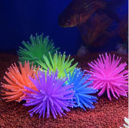 sea coral wholesale NZ - Aquarium Silicone Simulation Artificial Fish Tank Fake Coral Plant Underwater Aquatic Sea Anemone Ornament Decoration Accessory GB349