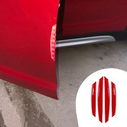 $enCountryForm.capitalKeyWord Australia - 4pcs Reflective Car Door Edge Guard Protector Strips Stickers Universal For BMW Mini Cooper Toyota Honda Suzuki Kia Lexus