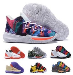 83b13977786 Kyrie Ikhet 5 Basketball Shoes Sneakers Mens Man 2019 Gold Magic Taco Bred  Neon Blends PE 3 Mamba Concepts Chaussures Baskets Ball Shoes