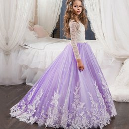 $enCountryForm.capitalKeyWord NZ - Little Girl Kids Clothing Party Prom Birthday Dress Tulle Flower Girl Kid Pageant Dance For Formal Wedding Occasion Ball Gown Princess F07