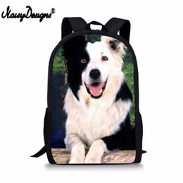 Discount gifts for teenagers girls - Cute Boder Collie Dog Printed Backpack Boys Girls School Kids Daily Bags Gift Backpacks For Teenagers Men Women Travel B
