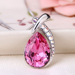 high end christmas ornaments UK - Woman fashion Originality jewelry personality Ornaments High-end Austria High-grade crystal Angel's eye Necklace Ma'am Pendant wholesale
