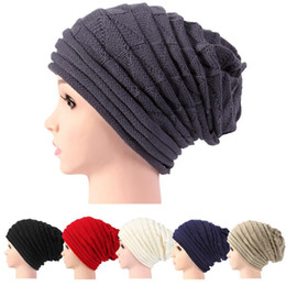 Slouchy Hats For Women Australia - Beanie Hats For Women Men Skullies Winter Cap Mens Slouchy Winter Hats Male Warm Knit Soft Stretch Cable Beanie Skull Cap Bonnet K7112312