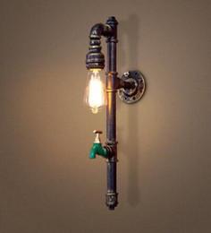 Vintage Water Pipes Australia - Vintage industry steam punk lamp loft wall lamp restaurant bar club porch corridor cafe light sconce water pipe edison E27 LLFA