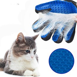 $enCountryForm.capitalKeyWord NZ - Pet Dog Hair Brush Comb Glove For Pet Cleaning Massage Grooming Supply Glove For Animal Finger Cleaning Cat Hair Glove