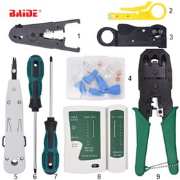 Lan Computer Network Australia - 9 in 1 Computer Network Repair Tool Kit LAN Cable Tester Wire Cutter Screwdriver Pliers Crimping Maintenance Tool Set Bag