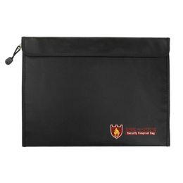 Pack Safe Australia - 38*28 Cm Office Briefcase Bag For Documents High Temperature Resistant Fireproof Waterproof Safe Document Pack File Folder Bags