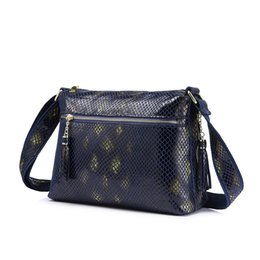 $enCountryForm.capitalKeyWord UK - REALER brand women genuine leather shoulder bag female crossbody bag with serpentine prints and tassel pillow new design