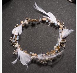 $enCountryForm.capitalKeyWord Australia - Korean Feather Headdress Hair Belt Sweet Smart Elf Hair Jewelry Marriage Jewelry Wedding Dress Accessories