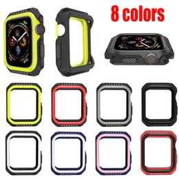 $enCountryForm.capitalKeyWord Australia - Sports NK Silicone Case Contrast Candy Color Soft Silicone Rubber Protective Cases Cover For Apple Watch Series 4 3 2 1 40mm 44mm 38mm 42mm