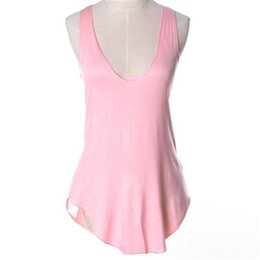 bd64ab025a 2019 Summer Sexy Low-cut Basic T-shirts Tank Top Solid Modal Sleeveless  Casual Slim Camisole Tops Women s Vest Camis