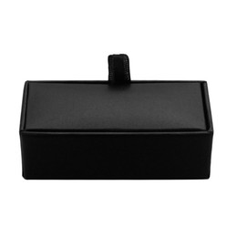 high end black boxes UK - French high-end men's Cufflinks box black red Cufflinks Gift Box