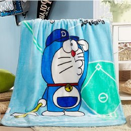 Discount free beds for children - Amine Hello KT Doraemon Blanket Kawaii Cartoon Blanket for Adult kids Fleece Throw on The Bed Sofa Travel Free Shipping