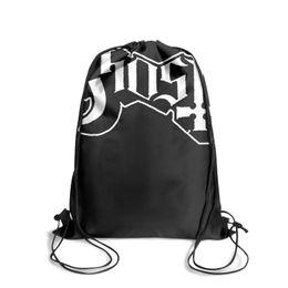 $enCountryForm.capitalKeyWord UK - Drawstring Sports Backpack ghost band logo blackoutdoor daily pull string Travel Fabric Backpack