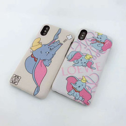 Elephant Phone Cases Australia - Designer Fashion Phone Case for Iphone XSMAX XR XS X 7P 8P 7 8 6 6sP 6 6s with Cute Flying Elephant popular carton style case.