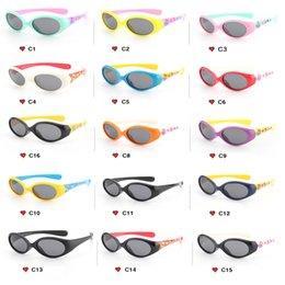 Baby Kid Sunglasses Australia - 2019 Children'S Fashion Outdoor Sports Sunglasses Boys Girls Kids Silicone Polarized Sunglasses TR90 UV400 Baby Glasses 18 Color