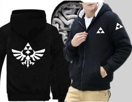 $enCountryForm.capitalKeyWord Australia - Fashion new game Zelda legend anime clothes loose hoodie zipper sports jacket long sleeve thick jacket