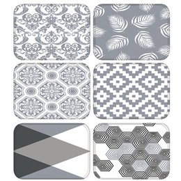$enCountryForm.capitalKeyWord Australia - Gray Geometric Kitchen Entrance Door Mat Coral Velvet Carpet Rubber Colorful Indoor Floor Mats Non-Anti-Slip Rug 48254