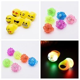 Rave light up toys online shopping - Flashing LED Ring Rave Party Blinking Soft Jelly Glow Led Light Up child Ring Children s Toys T2G5070