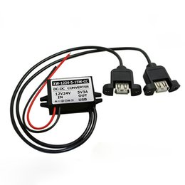 water module UK - Water-proof 12V 24V to 5V 3A 5A USB Converer 8-40VDC Wide Range Input 5V Output DC DC Power Module For Car
