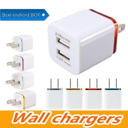 $enCountryForm.capitalKeyWord Australia - Factory US Plug Metal Ring Dual USB Travel Charger Wall Charger for Iphone Ipad samsung galaxy Huawei tablet Smartphone Fast Shipping