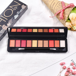 factory direct cosmetics 2019 - Factory direct Hot eyeshadow palette Korea Cosmetics 10 Colors eyeshadow palette Matte Glitter MakeUp Set cheap factory
