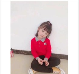 Polo Girls Australia - best shipping Hot style British fashion spring and autumn M children's leisure boys and girls pure cotton POLO long sleeves Jacke