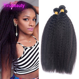Wholesale Indian Human Hair Bundles Virgin Hair Extensions Kinky Straight Weaves Natural Color