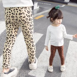 tight leopard leggings Australia - New leopard print girls leggings Kids Leggings cotton kids clothes girls tights skinny pants girls trousers kids clothes A7225