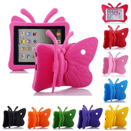 ipad butterfly case Canada - Butterfly Stand EVA Shockproof Tablet Cover for iPad 2 3 4 Air Air2 mini Pro New iPad 2017 2018 9.7inch Kids Case