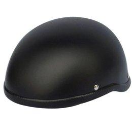 German Half Helmets Australia - 2018 Hot sale WWII Motorcycle Helmet vintage Half Face Helmet Retro German Chopper Cruiser Matte Black helmets