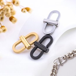 Discount parts connections - MEETEE Stainless Steel Rotatable Buckle Metal Connection Hook Adjustable Clasp Buckles bag chain Parts Accessories ZK910