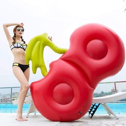 Adult Swim Inflatable Pools Australia - 180cm Inflatable Cherry Pool Float Red Beach Lounger Air Mattress Adult Swimming Ring Water Summer Party Toys boia Piscina