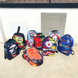 e2bf8ed7 Cyclopia monster backpack Sprayground design daypack Shark mouth schoolbag Spray  ground rucksack Sport school bag Outdoor day pack