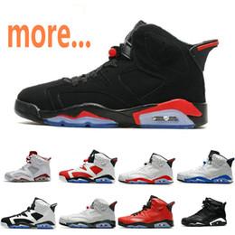 new product 8e882 32675 2019 nouvelle version hommes chaussures de basket-ball J6 baskets 6s sport  chaussures infrarouge carmin alternent noir chat bordeaux 6 top qualité  bottes