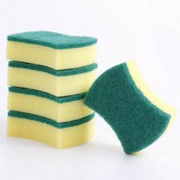 Kitchen Sponge Wipes Wholesalers Australia - 2019 High Density Rubber-impregnated Sponge Clean Wipe Dishwash Sponge Wipe Cleaning Cloth Sponge-block Household Kitchen