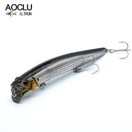 vmc hook lure NZ - AOCLU Jerkbait lures wobblers 13cm 21g Hard Bait Minnow Popper fishing lure With Magnet Bass Fresh 4# VMC hooks free shipping T191017